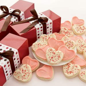Valentine Gift Boxes - Frosted Hearts