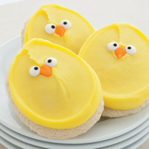NEW! Buttercream Frosted Chick cookies