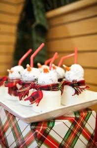 Cheryls truffle cookie milk snowmen