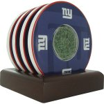 Brookstone NFL Team Coasters With Game Field Turf