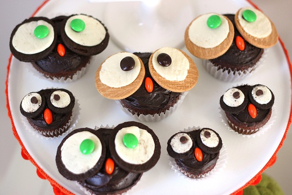 Mom & Baby Owl Cupcakes