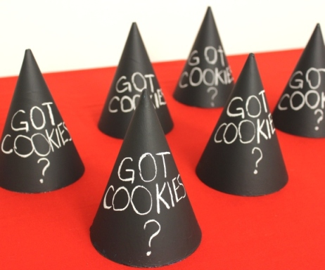 Chalkboard Party Hats