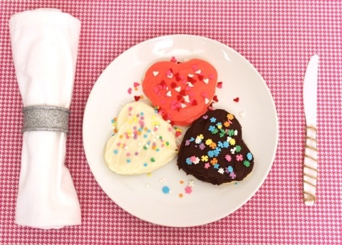 Decorated Cheryl's Valentine's Day Cookies