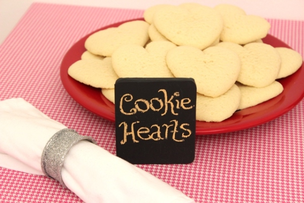 Plate of Cheryl's Heart-Shaped Cutout Cookies