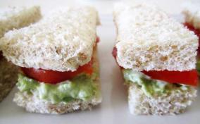Avocado and Tomato Finger Sandwiches