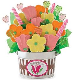 Large Mother's Day Cookie and Candy Flower Pot