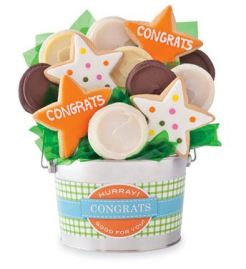 Congrats Cookie Flower Pot